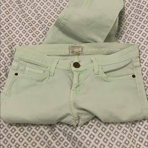 Current/Elliott light green cropped jean • 0/26